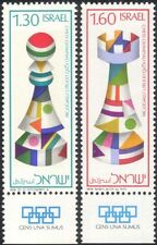 Israel 1976 Chess Olympiad/Pieces/Pawn/Rook/Games/Sport 2v set + tabs (s1738)