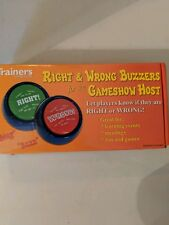Right & Wrong Answer Buzzers - Set of 2 Fun Game Show Audio Push Buttons
