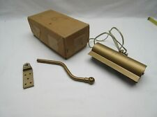 Vintage 6in Evenglow Picture Reflector wall light lamp Satin brass coated NOS  c