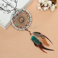 Silver Dream Catcher Feathers Core Bead Dreamcatcher Wall Car Decoration Hanging