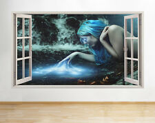Wall Stickers Fantasy Girl Blue Decal Poster 3D Art Vinyl Room A230