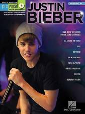 Pro Vocal Men's Edition: Volume 64: Justin Bieber (Hal Leonard Pro Vocal), New,