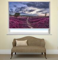 English Countryside River Printed Picture Photo Roller Window Blind Blackout
