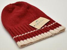 Raffaello Bettini Knit Beanie Hat Red New! Made In Italy