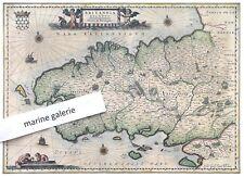 carte ancienne duché de Bretagne poster couleur sépia taille standard à encadrer