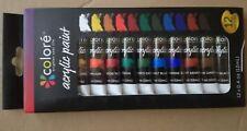 12 colori di vernice acrilica - 12 ml - dipingere tela, creta tessuto e altro