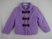 Gymboree Sunflower Smiles Girls 5 6 Purple Corduroy Jacket Coat Zip Up Toggle