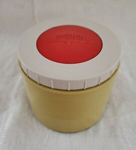Vintage/Retro THERMOS Model #1155, Yellow with Red/White Lid