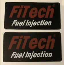 2 Fitech Fuel Injection Racing Decals Stickers 3x6 Drags Nhra Lsx Hotrod Lsfest