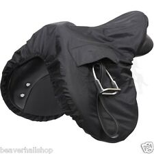 Shires Waterproof Ride On Saddle Cover Horse Pony Riding - Black One Size (232)