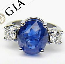 GIA Certified 11.00ct Untreated Cornflower Blue Sapphire Diamond Ring 18K Gold