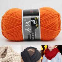 100g Soft DIY Wool Yarn Soft Hand Knitting Crochet Sweater Thread Thick Winter