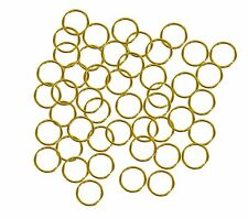 400 Jump Rings Plated Brass 6mm Round 18 Gauge Jewelry Chain Conect links U-Pick