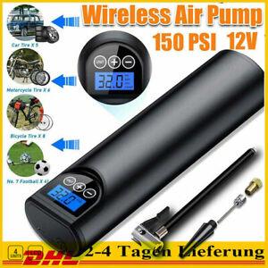 LCD Luftpumpe Luftkompressor Druckluft Akku 12V 150PSI Auto Fahrrad Reifenfüller