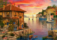 500 Pieces Jigsaw Puzzle Marina & Boats Sunset - Brand New & Sealed