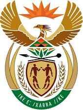 "ADESIVI AUTO STEMMA ""Sudafrica"" COAT of arms South Africa 11cm Adesivo in Vinile"