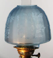 "OIL LAMP SHADE - Butterfly Beehive Shade Blue 4"" Fit"
