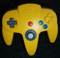 TTX Tech Wired Controller for Nintendo 64 Yellow-blue N64 Tested Work Great Rare