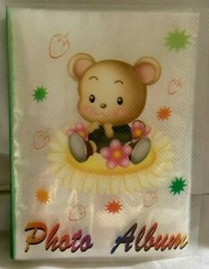 """4"""" x 6""""  BABY's PHOTO ALBUM * MOUSE w/ FLOWERS * 48 PAGES holds 96 PICTURES  NEW"""