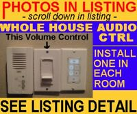 WALL VOLUME CONTROL ZONE ROOM SPEAKER SELECTOR SWITCH 4