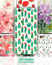 Flower Cactus Plant Pattern Soft TPU Clear Case Cover For iPhone 7