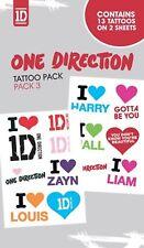 One Direction-Pack no#3 - Tatouage Pack-Tatouage images-NEUF NEUF dans sa boîte