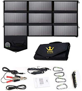 ☀️KYNG Solar Charger SunPower Mobile solar Panel USB Ports for iPhone Tablet