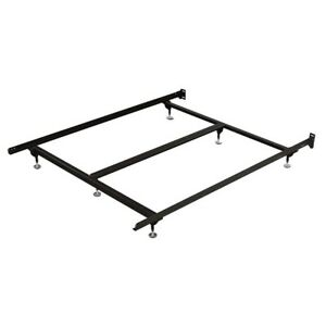 Black Adjustable Metal Bed Frame For Mattress Twin Full Queen King Calking Size