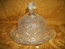 "Vintage Avon Fostoria Crystal Covered Dome Butter Dish 6"" D x 4 3/4"" tall"
