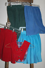 Lot of 4~Vintage~1950s?~Girls~Sk irts~Red Blue Green~Corduroy~Turquoise Cotton
