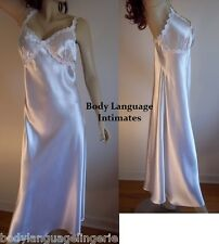 2X bridal white SATIN LONG NIGHTGOWN LINGERIE PLUS SIZE 2X