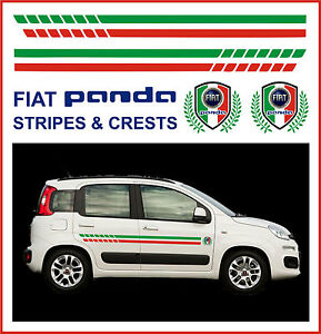 FIAT PANDA RACING SIDE STRIPES & CRESTS - FIT THE BEST!