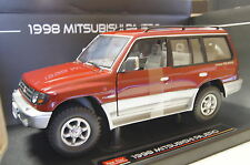 Mitsubishi Pajero Lang 3,5 V6 1998 rot 1:18 Sun Star neu & OVP