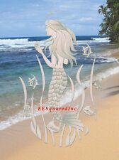 Mermaid Static Cling Oval Window Decal 8x12 Sliding Glass & Shower Door Decor