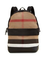Brand New Burberry Tiller Check & Leather Backpack, Black
