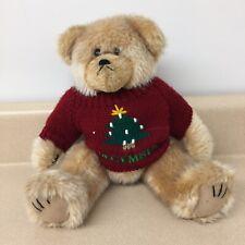 Vintage Brown Bear Reversible Sweater Stuffed Animal Teddy Bear 12� Euc Ar181