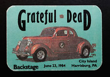 Grateful Dead Backstage Pass Harrisburg Pennsylvania 6/23/1984 Classic Car Auto