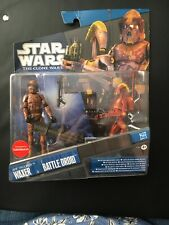 Star Wars The Clone Wars Waxer ARF Trooper and Battle Droid figures 2 Pack BNIP