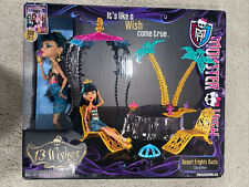 Monster High 13 Wishes Desert Frights Oasis w/Cleo de Nile Playset New Box MISB
