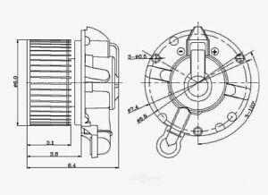 HVAC Blower Motor Front Global 2311628