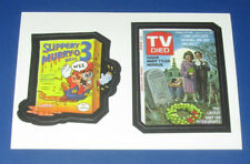 LOST WACKY PACKAGES SERIES 2 DOUBLE RED LUDLOW MURRY-O 3 / TV DIED  @@ RARE @@