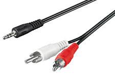 Audio-Video-Kabel 3,5 mm stereo Stecker > 2 x Cinchstecker 1,5 m