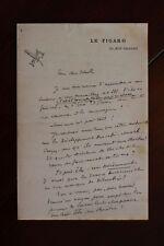 ✒ L.A.S. Jules HURET à Aurélien SCHOLL - Longue lettre interview 1897