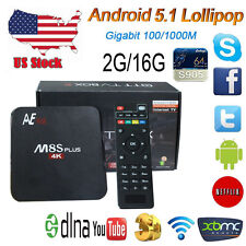 USA Anewish 2G 16G M8S+ Plus Android 5.1 TV Box Amlogic S905 Quad Core KD 16.0