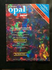 OCL - THE INTERNATIONAL OPAL JOURNAL - VOLUME 1 - NUMBER 1 - EXCELLENT CONDITION
