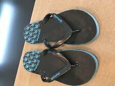 GOTCHA Mens Size 11 Blue & Black Surf Flip Flops Slides Thongs Sandals Rubber