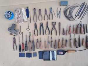 55 X Schuster Sattler Werkzeug Leder alt Vintage Cobbler Tools ZAUMZEUG GESCHIRR