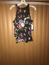 A Byer Floral Sleeveless Top XL