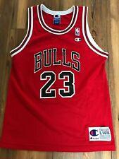 Michael Jordan #23 red Chicago Bulls usa made Champion Nba jersey youth L 14-16