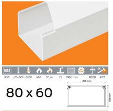4,19 €/m 10m Kabelkanal PVC 80x60 mm Weiß Schraubbar